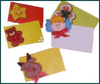 Tarjetas Para Navidad Hechas De Papel Y Foamy